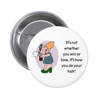 hair merchandise 6 cm round badge