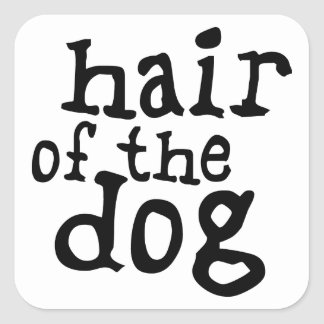 Hair of The Dog Square Sticker