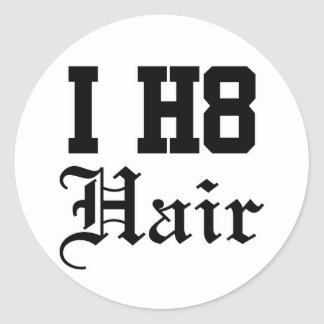 hair round sticker
