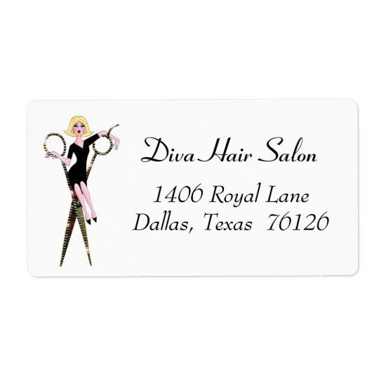 Hair Salon Address Labels