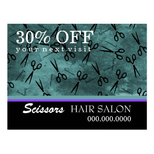 Hair Salon Business Advertising Postcard