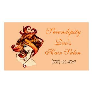 Hair Salon business card classy orange black chic