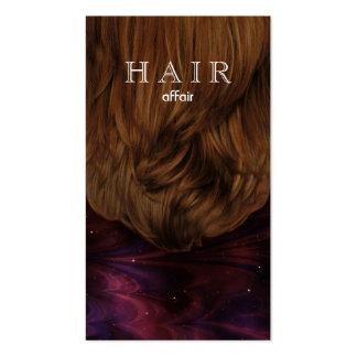 Hair Salon Business Cards Pink Black