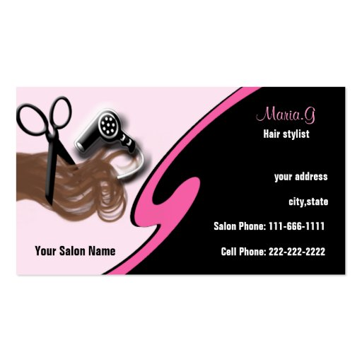 Create your own hairdresser hairstylist business cards page15 hair salon businesscards business card template fbccfo Image collections