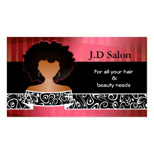 Hair salon businesscards double sided standard business for Hair salon business cards templates free