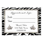 """Hair Salon"" Diva Appointment Cards Pack Of Chubby Business Cards"