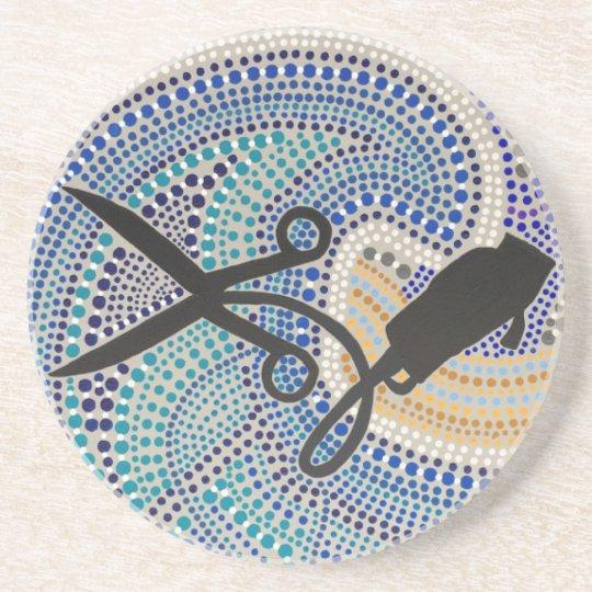 Hair Salon -DotSmart Aboriginal Style Art Coaster