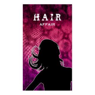 Hair Salon Fashion Business Cards Hot Pink
