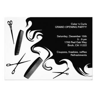 Hair Salon Grand Opening Party Invitation