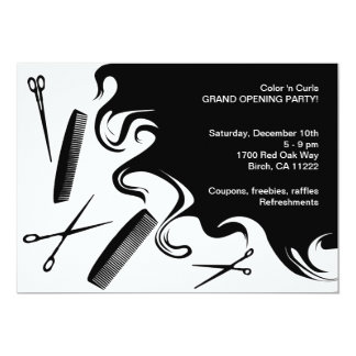 Hair Salon Grand Opening Party Invitation