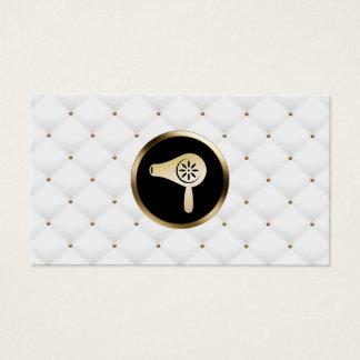 Hair Salon Hairstylist Gold Dryer Elegant Quilts Business Card