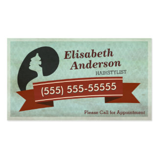 Hair Salon Hairstylist - Vintage Appointment Card Pack Of Standard Business Cards