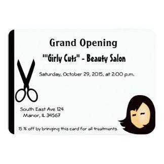 Hair Salon Opening Invitation