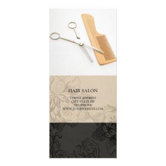 Hair Salon Services Price List {Beige} Rack Card Design