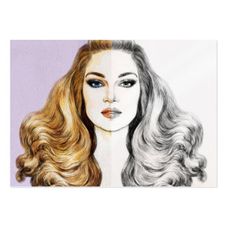 Hair / Salon / Spa / Beauty Consultant Pack Of Chubby Business Cards