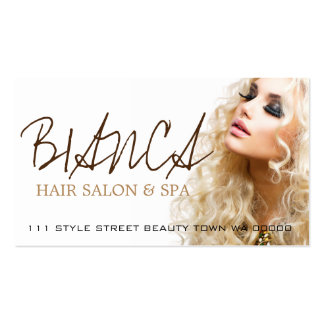 Hair Salon Spa Stylist Beauty Cosmetology Card Business Card