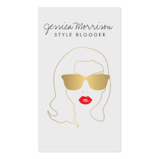 Hair Salon, Style Blogger, Beauty Girl Gold II Pack Of Standard Business Cards