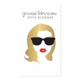 Hair Salon, Style Blogger, Beauty Girl Gold Pack Of Standard Business Cards