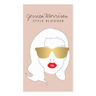 Hair Salon, Style Blogger, Beauty Girl on Peach Pack Of Standard Business Cards