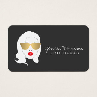 Hair Salon, Style Blogger, Glamorous Beauty Girl Business Card
