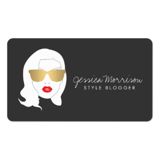 Hair Salon, Style Blogger, Glamourous Beauty Girl Pack Of Standard Business Cards