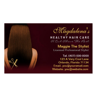 Hair Salon Stylist African American Appointment Pack Of Standard Business Cards