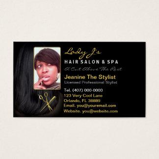 Hair Salon Stylist Appointment Business Photo Card