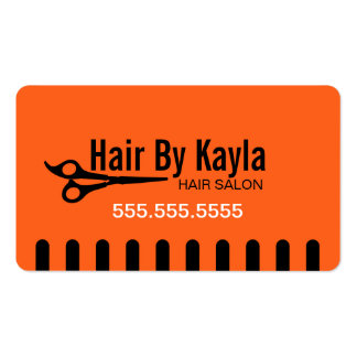 Hair Salon Stylist with Appointment Orange Pack Of Standard Business Cards