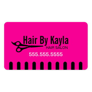 Hair Salon Stylist with Appointment Pack Of Standard Business Cards