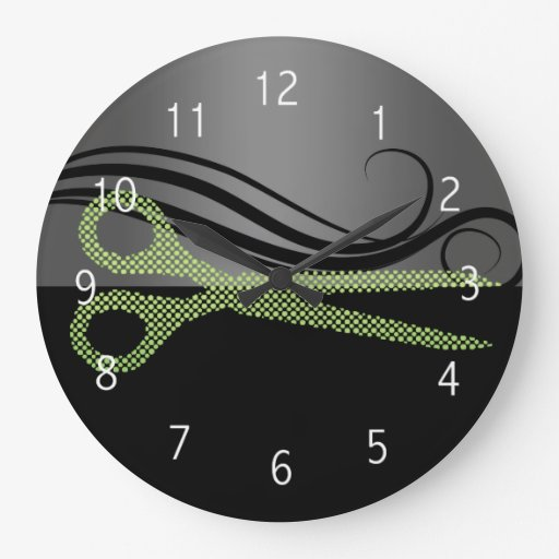 hair salon wall clock zazzle. Black Bedroom Furniture Sets. Home Design Ideas