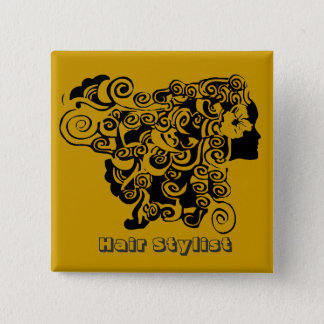 Hair Salons HairStylist 15 Cm Square Badge