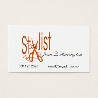 Hair Styling Designer Hair Salon Scissors Business Card