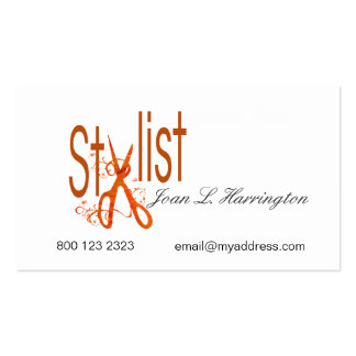 Hair Styling Designer Hair Salon Scissors Pack Of Standard Business Cards