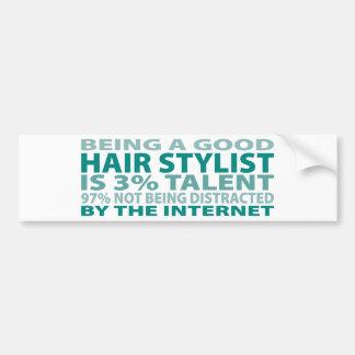 Hair Stylist 3% Talent Bumper Stickers