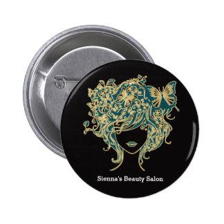 Hair stylist 6 cm round badge