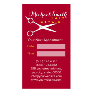 Hair Stylist Appointment - Alabama Crimson Solid 2 Pack Of Standard Business Cards