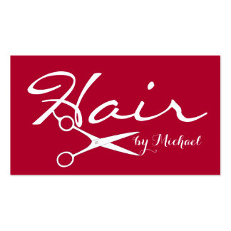Hair Stylist Appointment - Alabama Crimson Solid Pack Of Standard Business Cards