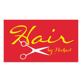 Hair Stylist Appointment - Alizarin Crimson Solid Pack Of Standard Business Cards