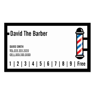 Hair Stylist Barber Simple Border Loyalty Punch Pack Of Standard Business Cards