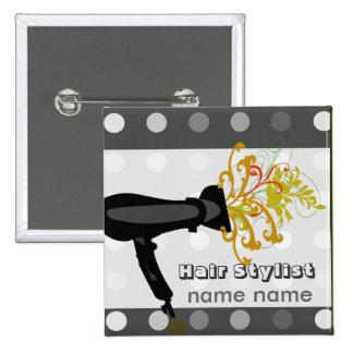 Hair Stylist Beauty Hair Spa Salons 15 Cm Square Badge