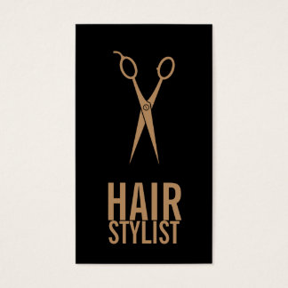 Hair Stylist - Black and Gold Scissors