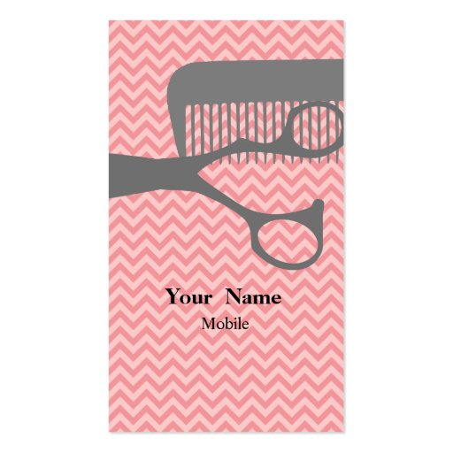 Hair stylist business card template zazzle for Hairdresser business card templates free