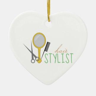 Hair Stylist Ceramic Heart Decoration