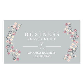Hair Stylist Classy Floral Silver Appointment Pack Of Standard Business Cards