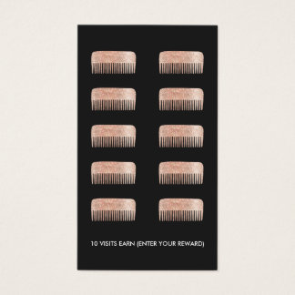 Hair Stylist Comb 10 Punch Customer Loyalty Card