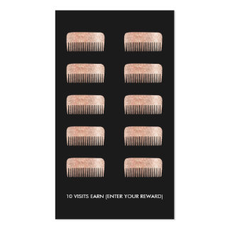 Hair Stylist Comb 10 Punch Customer Loyalty Card Pack Of Standard Business Cards