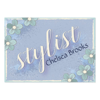 Hair Stylist Consultant Modern Flower Pack Of Chubby Business Cards