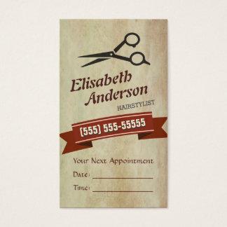 Hair Stylist - Creative Retro Appointment Card