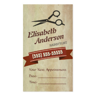 Hair Stylist - Creative Retro Appointment Card Pack Of Standard Business Cards