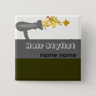 Hair stylist Diva Salon  Name 15 Cm Square Badge